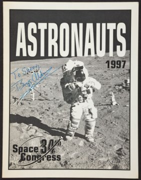 Buzz Aldrin Signed 34th Space Congress Astronaut