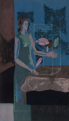 KELLY FEARING (American, 1918-2011) The Aquarist