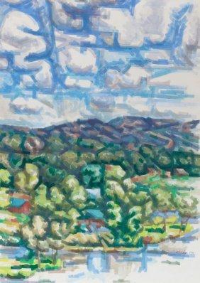 LOREN MOZLEY (American, 1905-1989) Lake Travis,