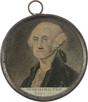 George Washington: Memorial Pewter Rim Medallion