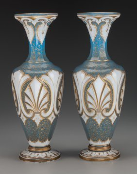 A Pair Of French Neoclassical Cased Partial Gilt