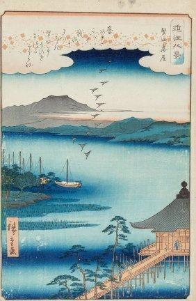 Ando Hiroshige (japanese, 1797-1858) Descending