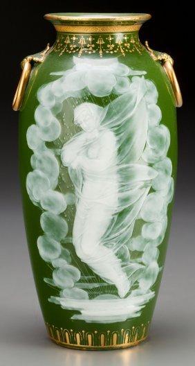 A Mintons Partial Gilt Pate-sur-pate Vase By Alb