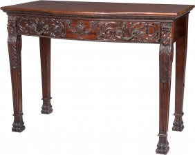 A Thomas Chippendale-style Mahogany Console Tabl
