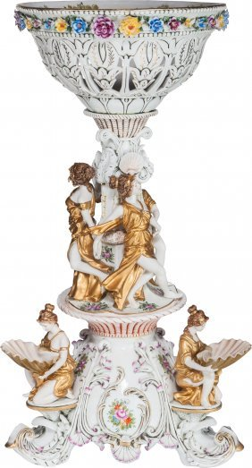 A Monumental Richard Klemm Dresden Partial Gilt