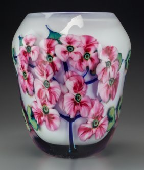 A John Lotton Cased And Layered Multi Flora Glas