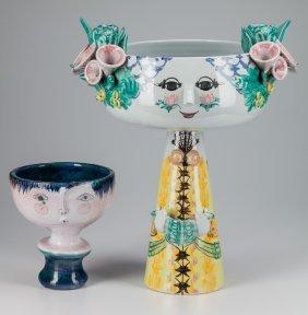 A Bjorn Wiinblad Ceramic Blomst Maiden & Robert