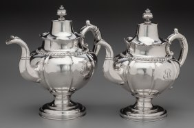 A Gale, Wood & Hughes Coin Silver Coffee Pot And
