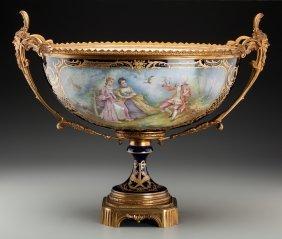 A Large Sèvres-style Porcelain Center Bowl With