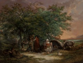 George Morland (british, 1763-1804) The Gipsies'