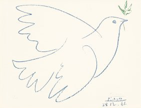 After Pablo Picasso Dove Of Peace, 1961 Offset