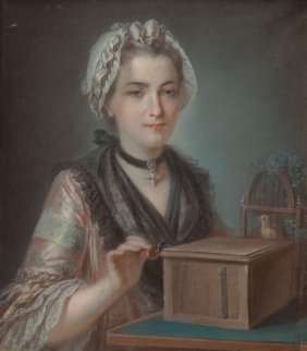 French School (18th Century) A Young Woman With