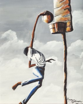 Harvey Johnson (american, B. 1947) Slam Dunk, 19