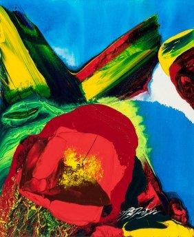 Paul Jenkins (american, 1923-2012) Phenomena Red