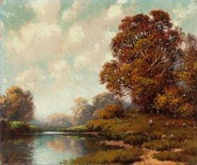 A.d. Greer (american, 1904-1998) Autumn Landscap