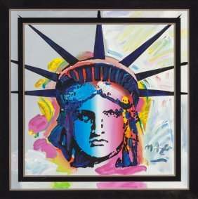 Peter Max (american, B. 1937) Statue Of Liberty