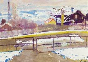 Albert Pfister (swiss, 1884-1978) Winter On The