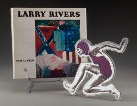 Larry Rivers (american, 1925-2002) Swimmer, Circ