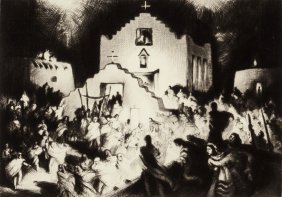 Gene Kloss (american, 1903-1996) Processional --