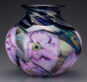 A Daniel Lotton Multi Flora Glass Vase, Crete, I