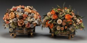 A Pair Of French Empire-style Tole Painted Metal