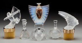 A Group Of Six Lalique Perfume Bottles, 20th Cen