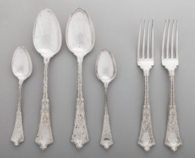 A Group Of Six Tiffany & Co. Persian Pattern Sil