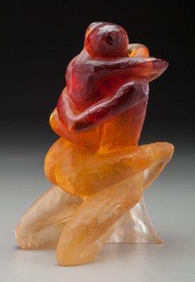 A Daum Pate-de-verre Glass Sculpture: Tantra, La