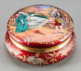 A French Enameled Powder Box, Early 20th Century