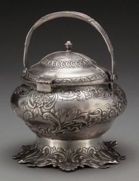 A Persian Silver Hinged And Lidded Tureen, Early