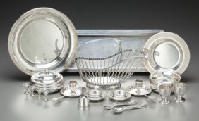 A Group Of Nineteen Christofle Silver-plated Tab
