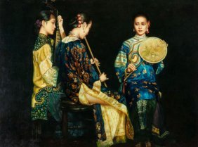 Manner Of Chen Yifei (american/chinese, 1946-200