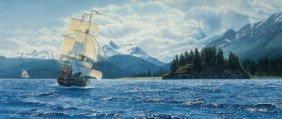Charles Gause (american, 20th Century) Ship At S
