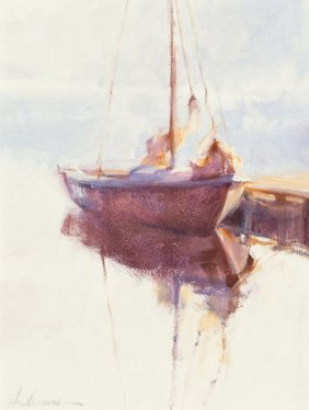 C. Anderson (american, 20th Century) Sailboat On