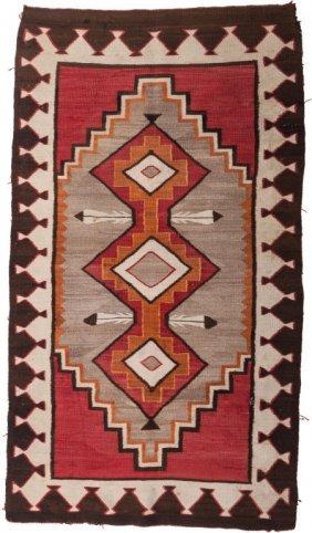 A Navajo Red Mesa Regional Rug, Circa 1930 69 In
