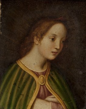 Italian School (19th Century) Virgin With Green