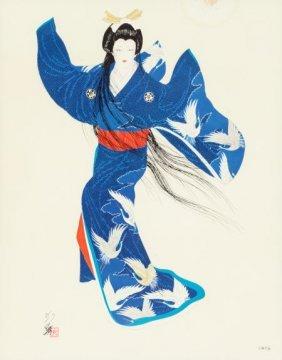Japanese School (20th Century) Geisha Lithograph