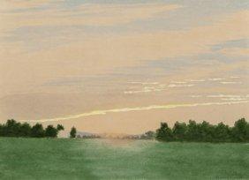 Henry Farrer (american, 1843-1903) Sunset Landsc
