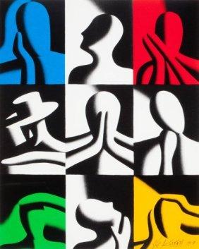 Mark Kostabi (american, B. 1960) Conversation Pi
