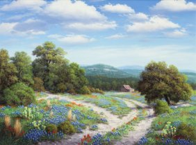 Ronnie Hedge (american, 1954-2010) Hill Country