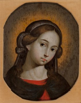 Spanish School (19th Century) The Young Madonna