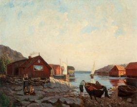 Julia Stromberg (swedish, 1851-1920) Out To Sea,