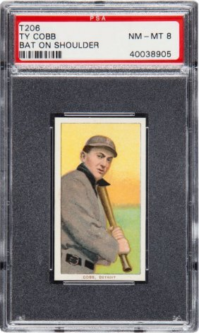 1909-1911 T206 Sweet Caporal Ty Cobb (bat On Sho