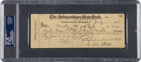 1949 Mickey Mantle Signed Independence (ks) Yank