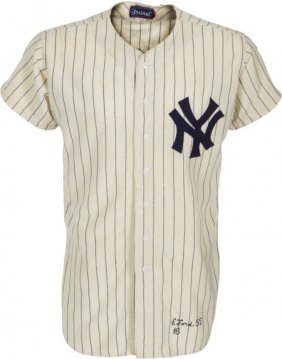 1955 Whitey Ford Game Worn New York Yankees Jers