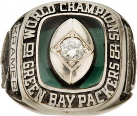 1965 Green Bay Packers Nfl Championship Ring Pre