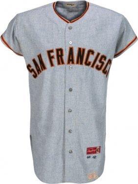 1966 Willie Mays Game Worn San Francisco Giants