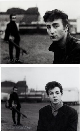 Beatles - Two Signed Astrid Kirchherr Photograph