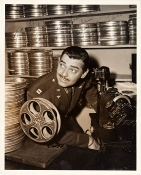 A Clark Gable Signed Black And White Photograph,