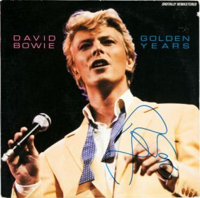 David Bowie Signed Golden Years Lp (rca Afl 1-47